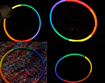 Rainbow chunks sparkle reflective hula hoop of your choice, hdpe, polypro, pe, hula hoop hula Hoop Collapsible Travel raye of rainn