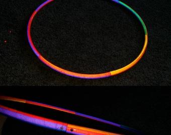 Rainbow rotation reflective, hoop of your choice, hdpe, polypro, pe, hula hoop hula Hoop Collapsible Travel push pin button, rainbow