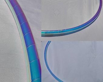 Indigo sunrise morph dance hoop hoop of your choice, hdpe, polypro, pe, hula hoop hula Hoop Collapsible Travel with push pin buttons