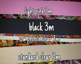 Grip tape add on, 3m, low profile, clear, light pink, black