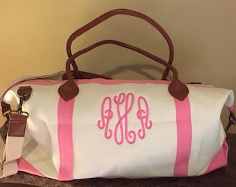 Monogrammed Weekender / Monogrammed Duffle Bag /Monogrammed Overnight Bag