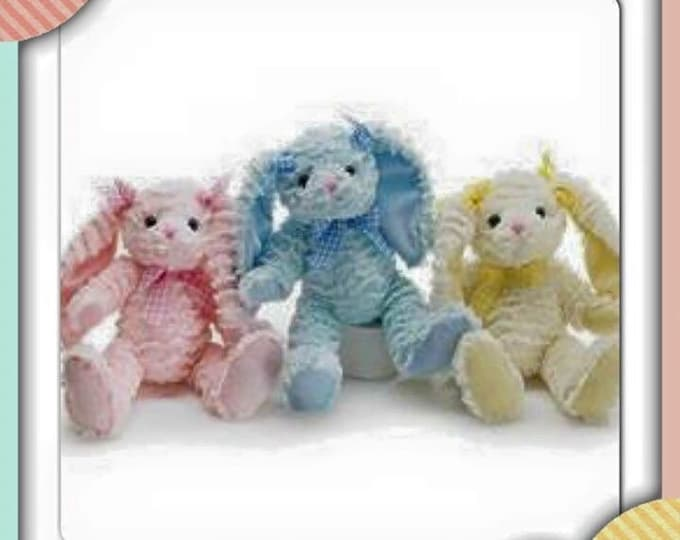 Personalized Plush Easter Bunnies!