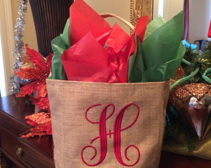 Personalized Burlap Buckets