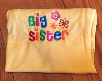 Big Sister Embroideried Tshirt