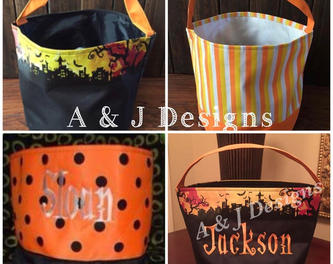 Personalized Buckets / Gift Bags for Easter, Halloween & Christmas