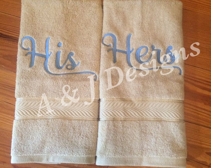 His & Hers Hand Towels