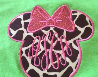 Mouse inspired Head Applique