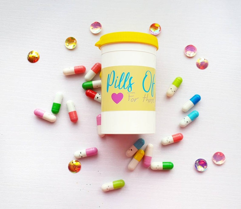 Pills Of Positivity Positivity Gift Anxiety Gift Mental Etsy