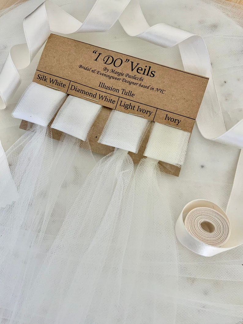 Faux Silk Tulle Swatch Card Illusion Tulle