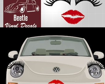 6fe8c35b3a9ab Volkswagen Bug Eyelashes and lips