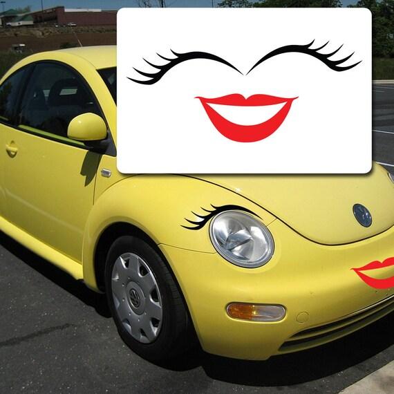 Volkswagen Eyelashes And Lips Vw Bug Eyelashes And Lips Etsy