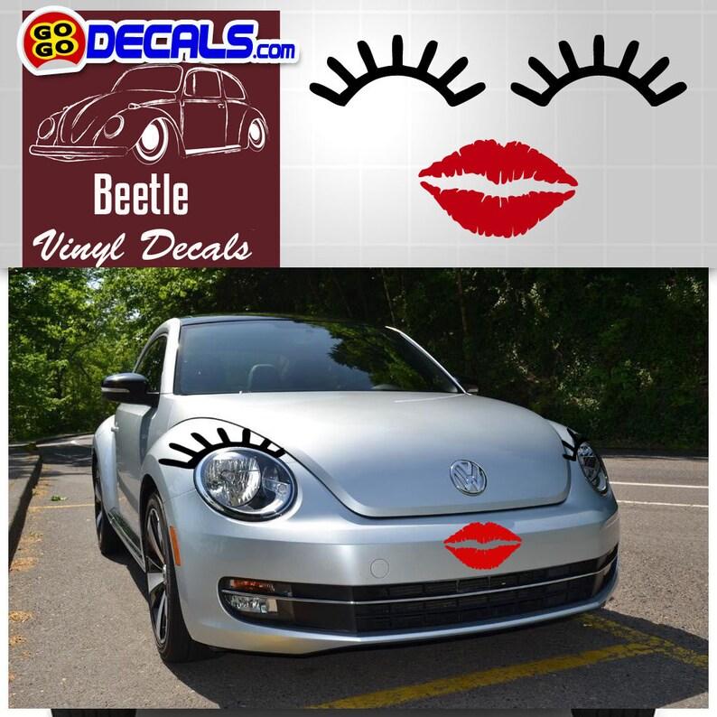 Vw Bug Eyelashes And Lips Volkswagon Eyelashes And Lips Vw Etsy