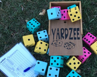 YARZEE, Yard Games, Dice Games, Giant Dice, Lawn Dice, Family Games, Yard Dice, Jumbo Dice, Yard Yardzee, Outdoor Games,
