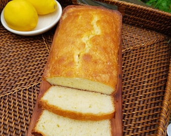 Lemon Loaf - Lemon Pound Cake -  Lemon Bread - Old Fashion Lemon Pound Cake - Gift for Grandma - Birthday Gift - Christmas Gift - 1 lg loaf