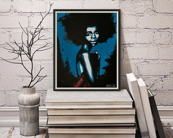 Morning Glory - Vakseen - Woman Art - Abstract Woman - Black woman art - Figurative woman - Pop Art prints - Black Artists - African Art