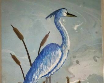 Diptych - A Pair of Herons