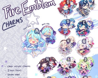 FIRE EMBLEM HEROES Charms (2 inch, Double-sided, Clear Acrylic)