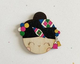 ID Badge HolderMagnet Pompom Gal