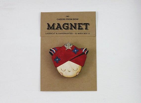 Handpainted Iu Mien Wooden Lasercut Magnet Iu Mien Boy X Etsy