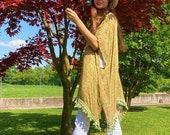 Poncho - Kimono Model / Yellow Summer