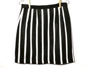 Tsachilas Skirt - Black & White Stripes
