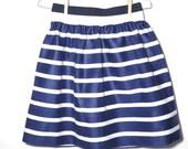 Tsachilas Skirt - White & Blue