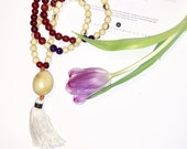 Tagua Necklace - Mala Inspired / White