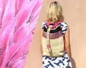 Artisanal Paja Toquilla Backpack - One