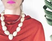 Tagua Necklace - White Drop