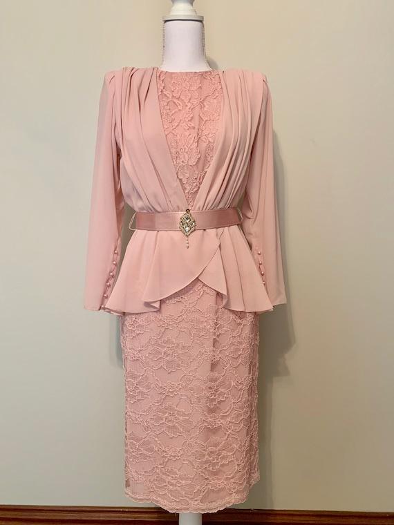 Vintage Ursula of Switzerland Pink 1980s Long Slee