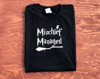 Mischief Managed Harry Potter Inspired Unisex Shirt, Harry Potter Gift Ideas, Butterbeer Shirt, Mischief Managed Tee