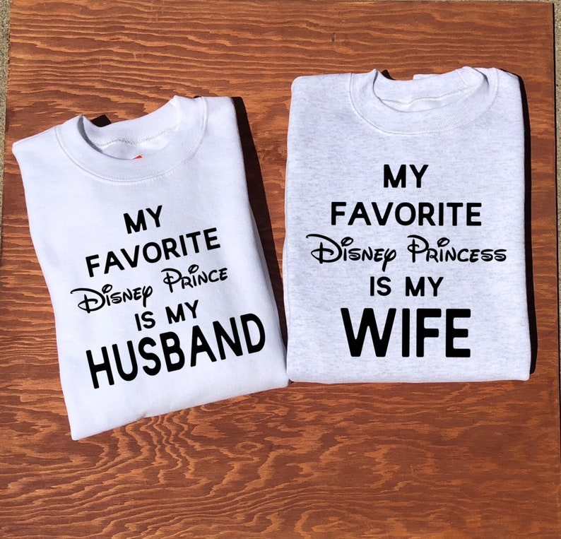 f321d129881 Mr. and Mrs. Disney Couples Sweatshirt Valentines Day Couples