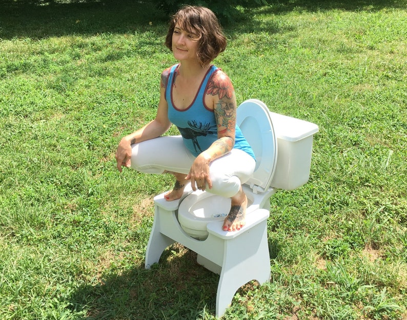 High POOP STOOP Full-Squat Toilet Foot Stool - New Design!