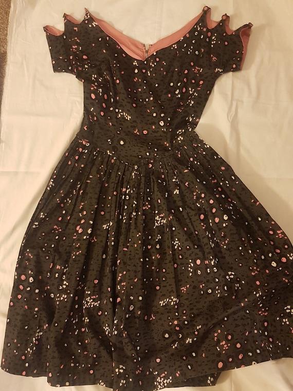 TRUE VINTAGE Off The Shoulder Black Party Dress