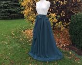 MOSS chiffon skirt, any length and color Bridesmaid skirt, floor length, tea length, knee length chiffon skirt, SASH is additional cost