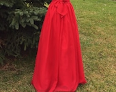 Red Chiffon skirt, any length and color Bridesmaid skirt, floor length, tea length, knee length, empire waist chiffon skirt, Valentine's Day