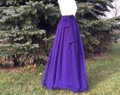 Petunia chiffon skirt, any length and color Bridesmaid skirt, floor length, tea length, knee length violet chiffon skirt