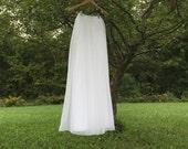 White Chiffon skirt, any length and color Bridesmaid skirt, floor length, tea length, knee length empire waist chiffon skirt