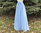 Resort blue (DOUBLE CHIFFON) Skirt, Bridesmaid skirt, floor length, tea length, knee length empire