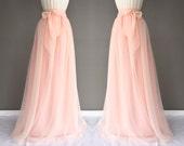 WINTER MELON chiffon skirt, any length and color blush Bridesmaid skirt, floor length, tea length, knee length empire waist chiffon skirt