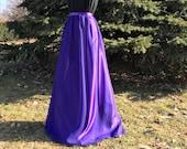 ULTRA VIOLET- purple chiffon skirt, any length and color Bridesmaid skirt, floor length, tea length, knee length violet chiffon skirt