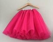 Tulle skirt- adult tutu, pink tutu- fuchsia tulle skirt- fuchsia pink tutu, photography prop, bridesmaid tutu