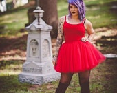 Women's red tutu, costume tutu, adult red tutu, womens tulle skirt, adult tulle skirt,