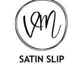 Matching satin slip
