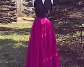 MAGENTA chiffon skirt, any length and color skirt, floor length, tea length, knee length empire wa