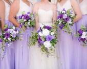 CAPRI IRIS chiffon skirt, any length and color Bridesmaid skirt, floor length, tea length, knee length lavender chiffon skirt