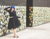 Black tulle skirt- adult black tutu, bachelorette, engagement, photo prop, any size any length