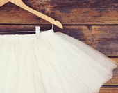 Custom tutu- Adult Bachelorette Tutu- white tutu, ivory tulle skirt, bachelorette party. ANY COLOR