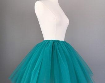 98dffcff8d Tulle skirt, teal Tutu, teal tulle skirt, turquoise tutu- custom any length