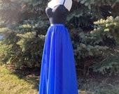 ROYAL blue chiffon skirt, any length and color Bridesmaid skirt, floor length, knee length empire waist chiffon